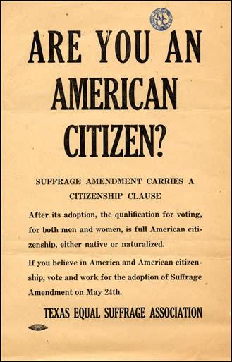 Pro-suffrage flyer